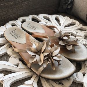 B.O.C Born Flower Leather Sandals Shoes Woman's 7